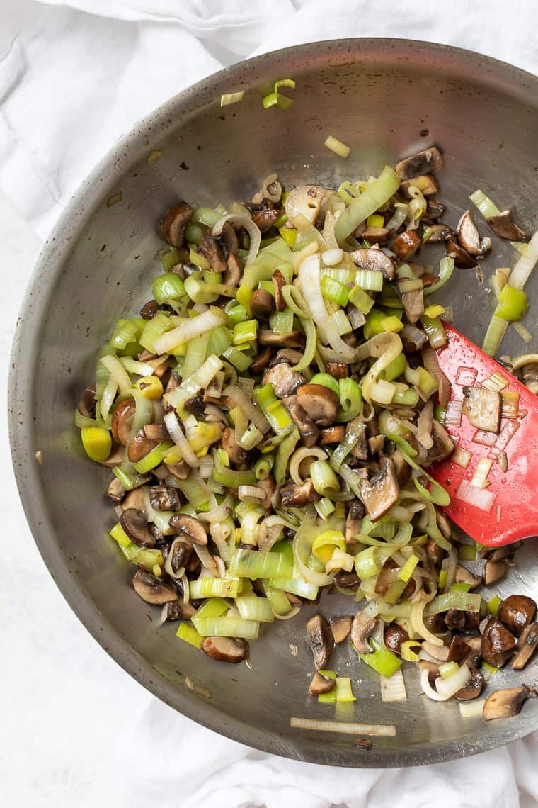 Sauteed Mushrooms and Leeks