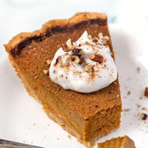 Slice of Healthy Pumpkin Pie