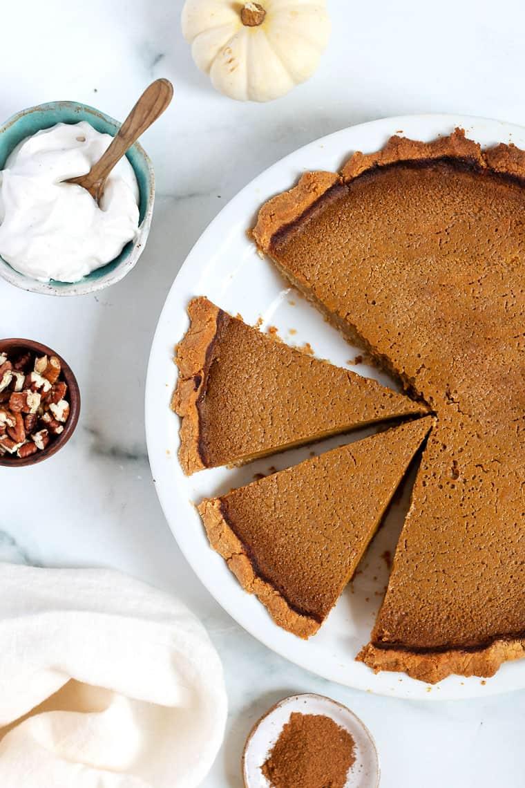 Slices of Healthy Pumpkin Pie