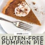 Gluten-Free & Dairy-Free Pumpkin Pie