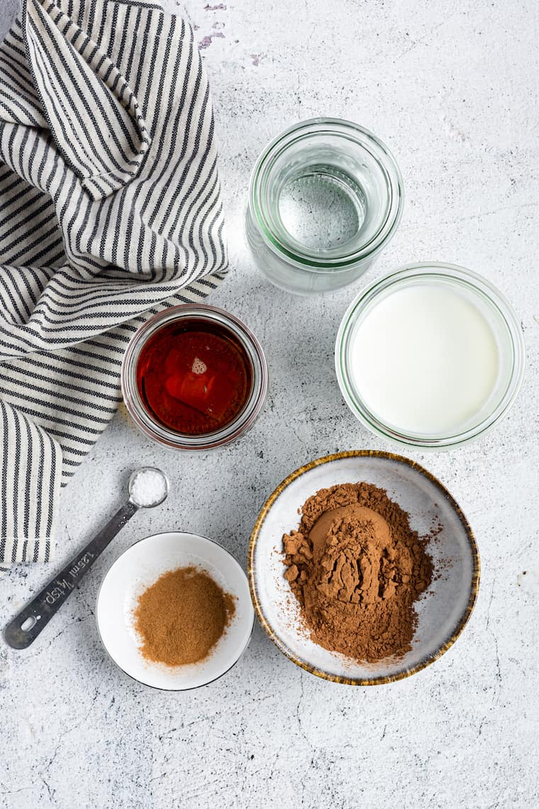 Ingredients for Vegan Hot Chocolate