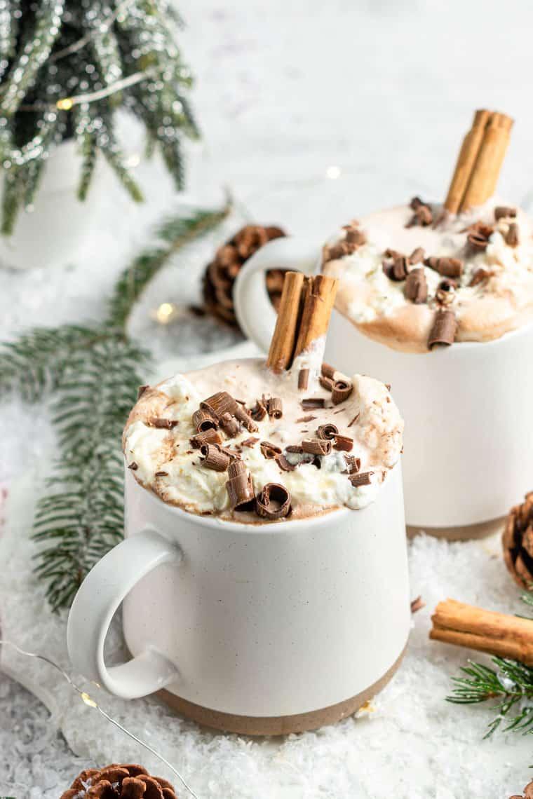 Maple Sea Salt Vegan Hot Chocolate