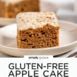 Healthy GF Apple Cake