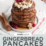Fluffy Gingerbread Pancakes {V + GF}