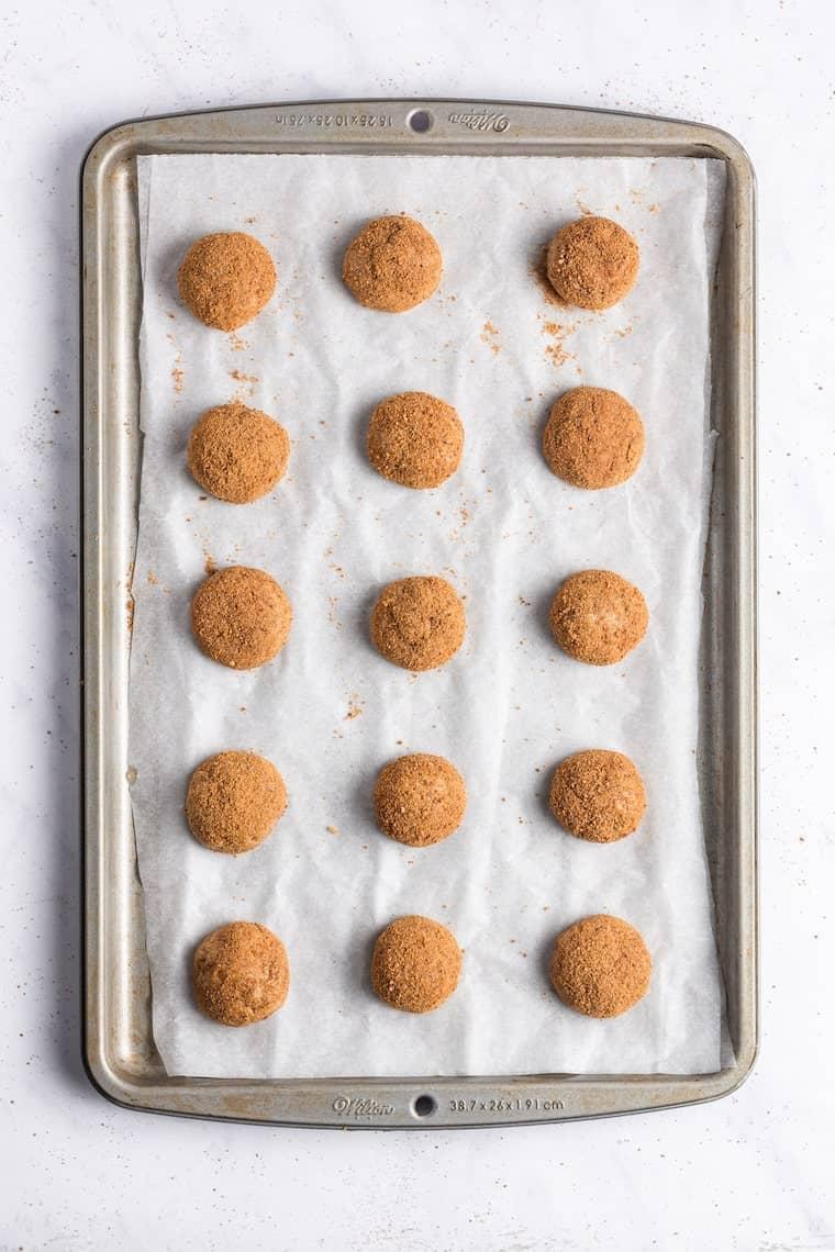 Baking Gluten Free Snickerdoodle Cookies