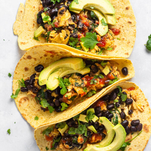 Vegetarian Breakfast Tacos Recipe with Corn Tortillas