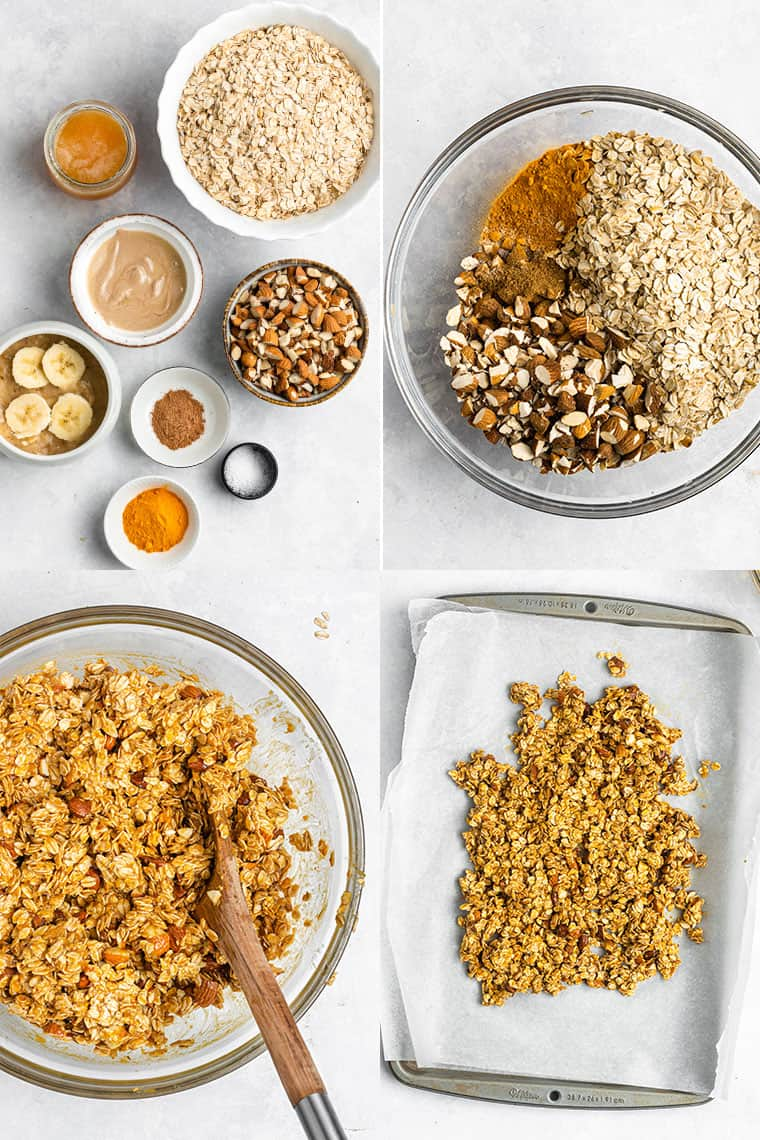 how to make turmeric granola from scratch