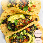overhead healthy breakfast tacos