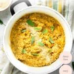 pot of butternut squash quinoa risotto