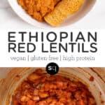 ethiopian lentils collage