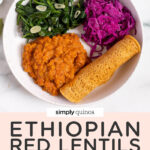 overhead plate ethiopian lentils