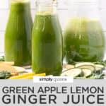 three green juices