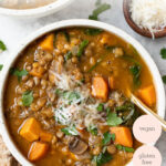 vegan red lentil soup recipe with sweet potato