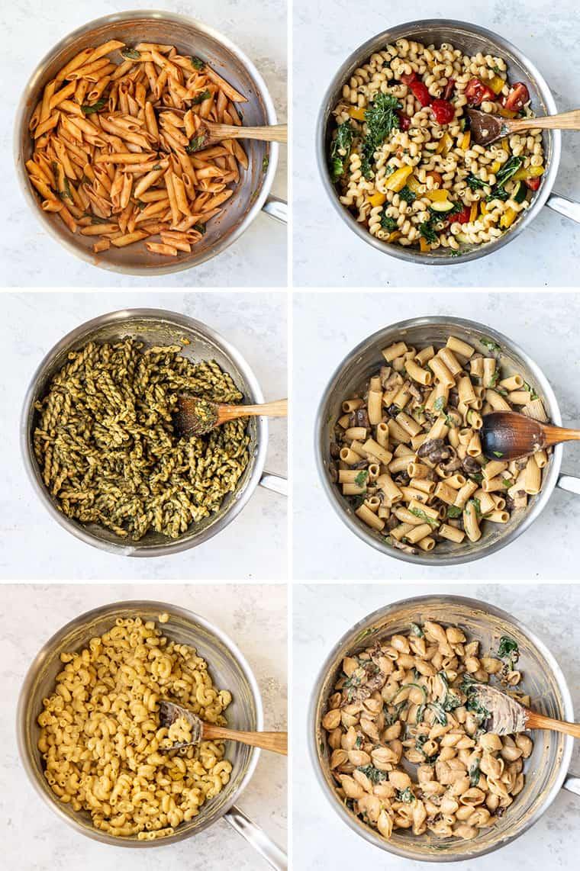 Vegan chickpea pasta recipes made 6 different ways