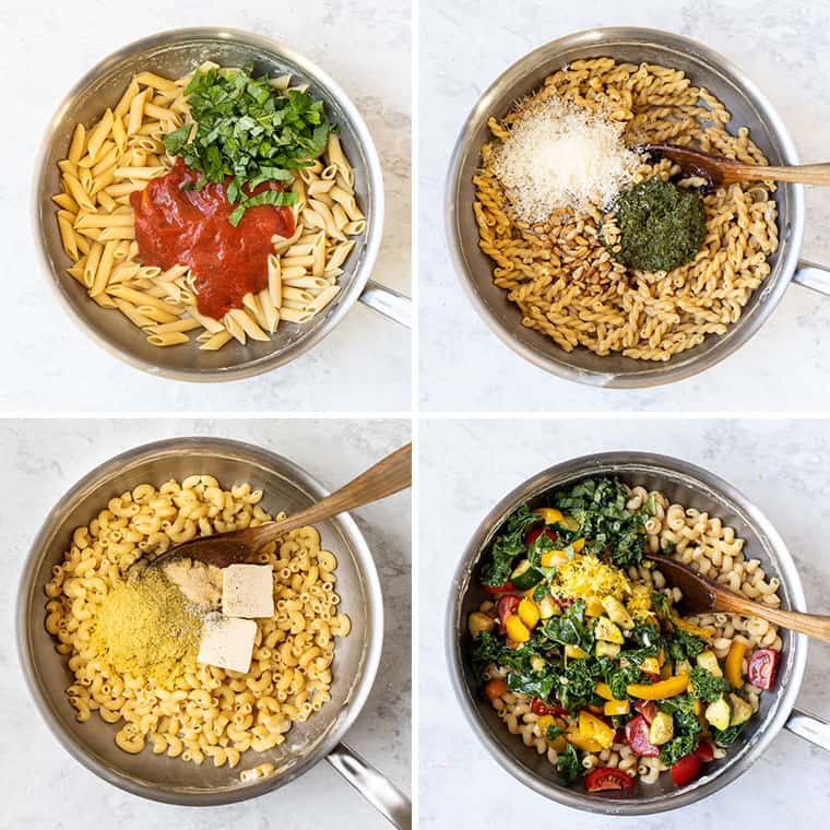 how to cook chickpea pasta with 4 different flavors