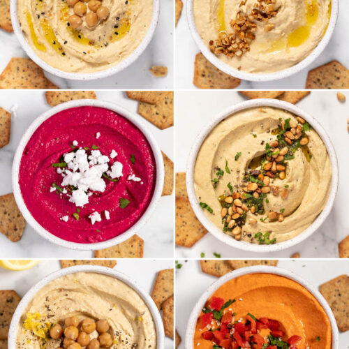 how to make hummus with 6 different ways