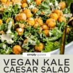 close up of vegan kale salad