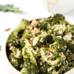 side view broccoli salad