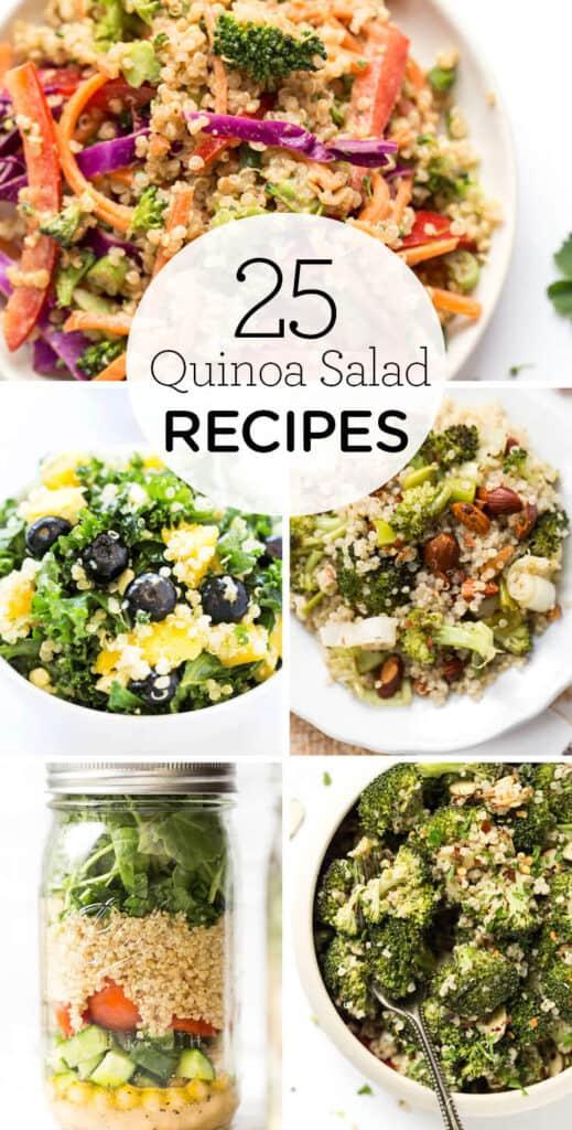25 quinoa salad recipes collage