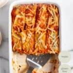 pan of vegan tofu lasagna roll ups