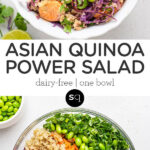 asian quinoa power salad collage