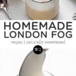 london fog recipe text overlay