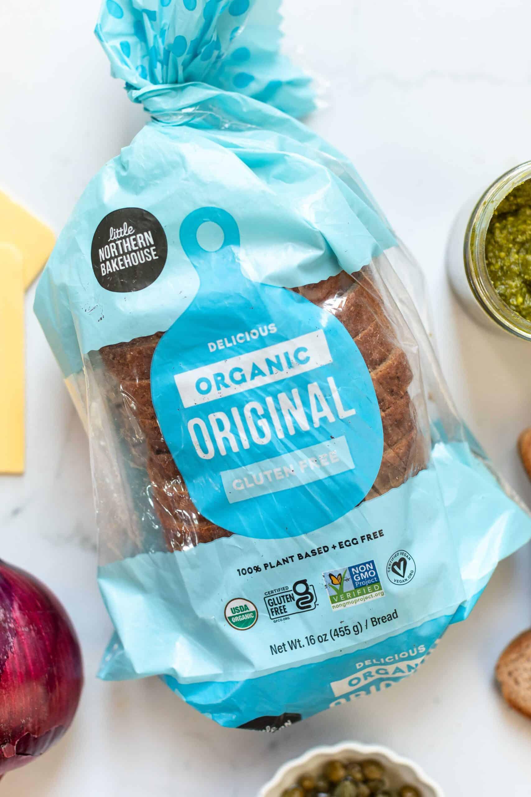 overhead shot of little northern bakehouse organic bread