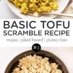tofu scramble collage