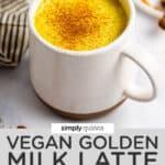 golden milk text overlay
