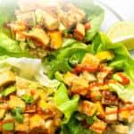 Tropical Quinoa Lettuce Wraps text overlay
