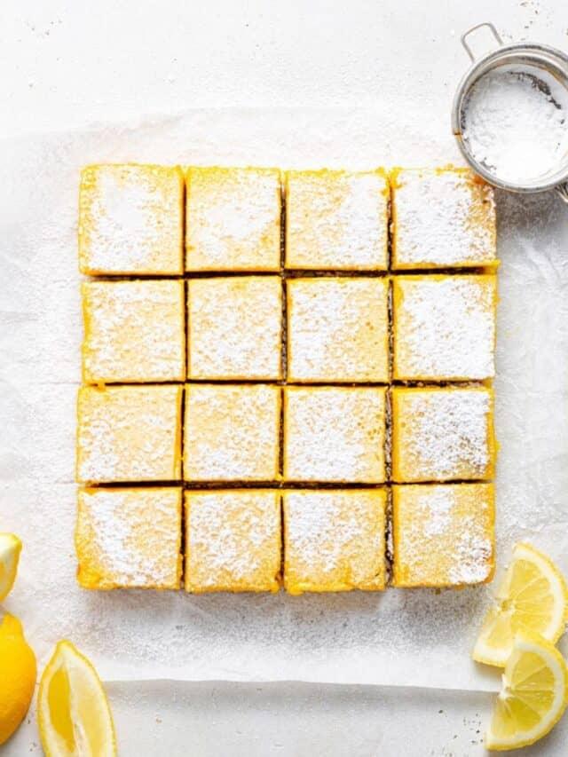Healthy Lemon Bars (Gluten-Free & Dairy-Free)
