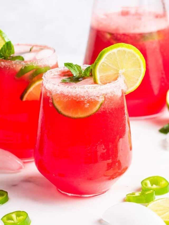 Healthy Watermelon Margaritas