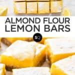 lemon bars text overlay collage
