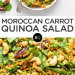 Moroccan Carrot Quinoa Salad text overlay collage