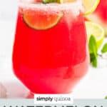 watermelon margarita text overlay