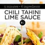 Chili Tahini Lime Sauce text overlay