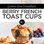 berry french toast cups text overlay
