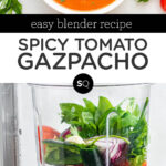 spicy tomato gazpacho text overlay
