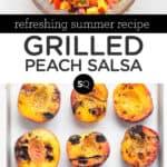 Grilled Peach Salsa text overlay