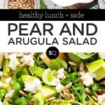Pear and Arugula Salad text overlay
