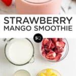 Strawberry Mango Smoothie text overlay