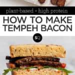 tempeh bacon text overlay