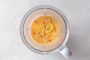 vegan corn chowder recipe in a blender to make creamy