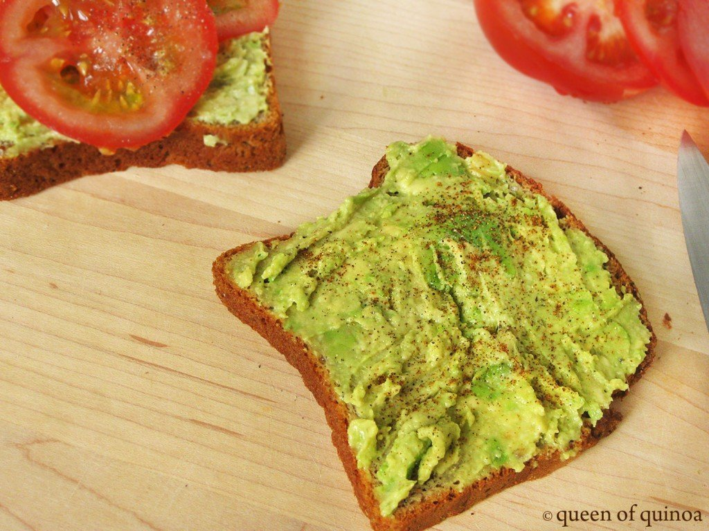 Fresh avocado spread on gluten-free toast