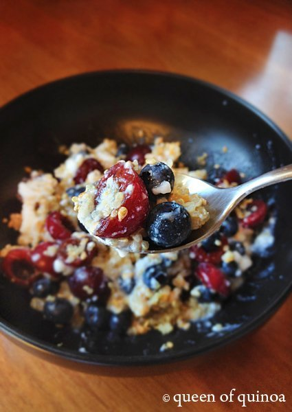 Fruit  Yogurt Quinoa Breakfast Bowl  Simply Quinoa