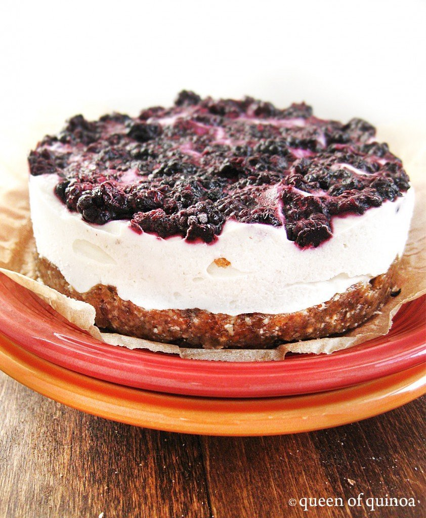 Black Raspberry Cheesecake | Gluten-free & Vegan | Queen of Quinoa