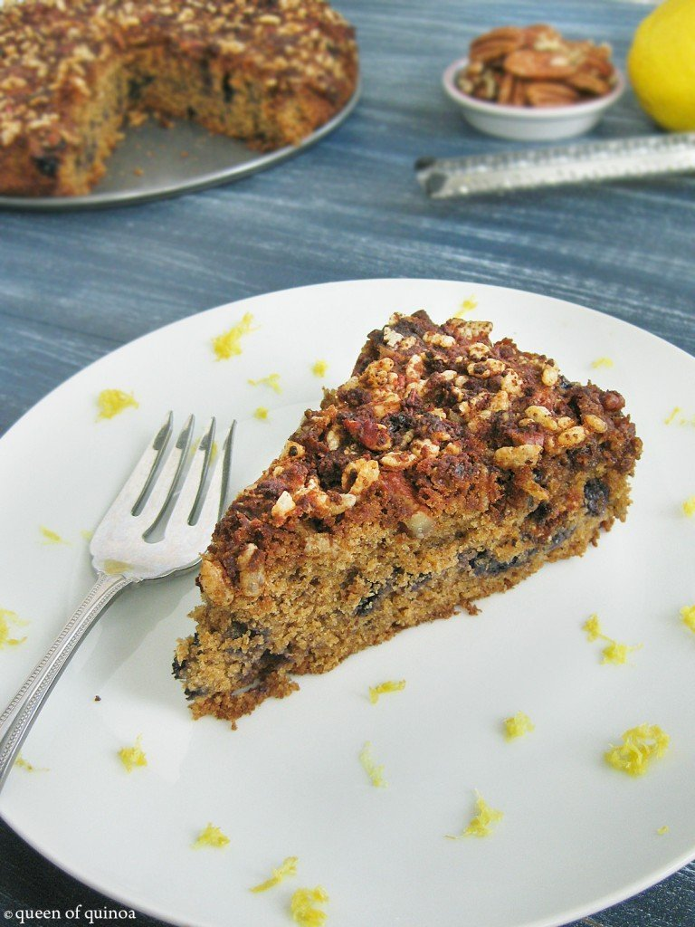 Gluten-free Blueberry Lemon Coffee Cake_Queen of Quinoa