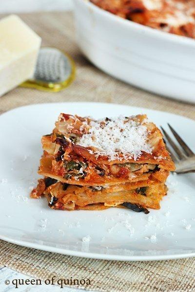 Butternut and Goat Cheese Lasagna | Gluten-Free | Queen of Quinoa