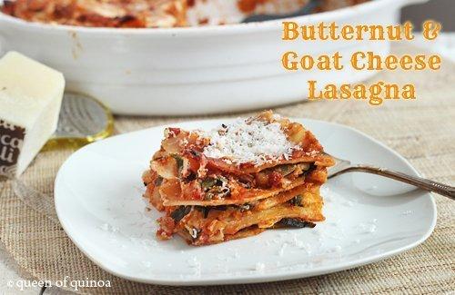 Butternut and Goat Cheese Lasagna |Gluten-Free | Queen of Quinoa