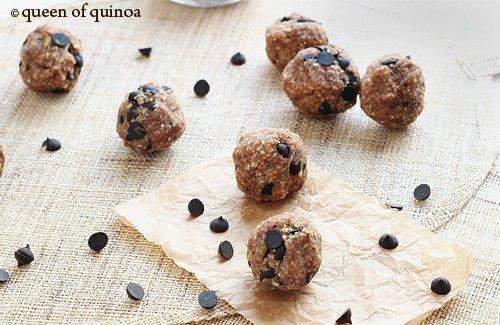Choco Chip Peanut Butter Balls via Queen of Quinoa